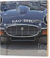 E Type Jaguar V12 Wood Print