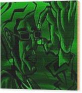 E Vincent Green Wood Print