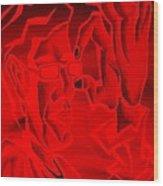 E Vincent Negative Red Wood Print