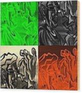 E Vincent Quad Colors Wood Print