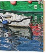 E17 Reflections - Lyme Regis Harbour Wood Print