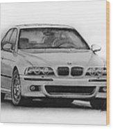 E39 M5 Wood Print