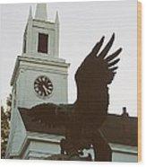 Eagle And Church Wood Print
