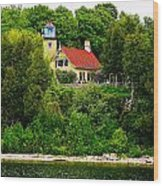 Eagle Bluff Lighthouse Of Door County   Wood Print