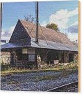 Eagle Bridge Depot Wood Print