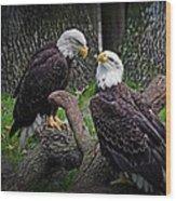 Eagle Couple Wood Print