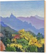 Eagle Craggs Vista Wood Print