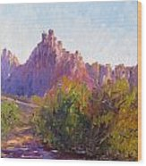 Eagle Crags Wood Print