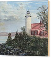 Eagle Harbor Light Wood Print