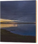 Eagle Hill Sunset Wood Print