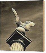 Eagle In Stone Wood Print
