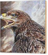 Eagle Cry Wood Print