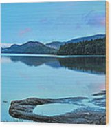 Eagle Lake Maine - Panoramic View Wood Print by Thomas Schoeller