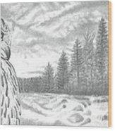 Eurasian Eagle-owl Wood Print