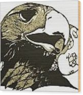Eagle Planet Wood Print