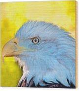 Eagle Profile Wood Print