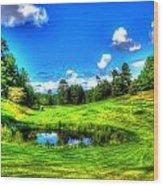 Eagle River Golf Course Wood Print