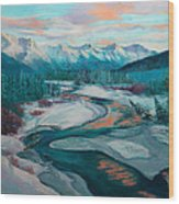 Eagle River Solstice Wood Print