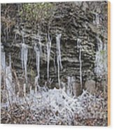 Eagle Rock Icicles 2 Wood Print