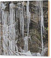 Eagle Rock Icicles Wood Print