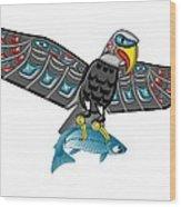 Eagle Salmon Totem Wood Print