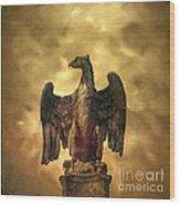 Eagle Sculpture Wood Print by Bernard Jaubert