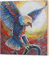 Eagle takes Charge Wood Print