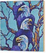 Eagle Tree Wood Print