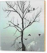Eagles And Kin Wood Print
