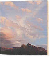 Eagles Crags  Wood Print
