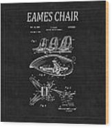 Eames Chair Patent 4 Wood Print