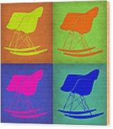 Eames Rocking Chair Pop Art 1 Wood Print