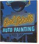 Earl Scheib Neon Bev Hills-1 Wood Print