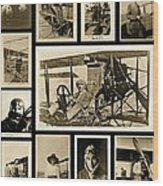 Earlier Aviators Wood Print