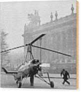 Early 20th Century Autogyro Wood Print
