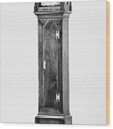 Early American Clock Wood Print
