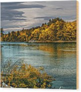Early Autumn Along The Androscoggin River Wood Print by Bob Orsillo
