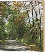 Early Autumn Drive Wood Print