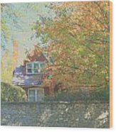 Early Autumn Home Wood Print
