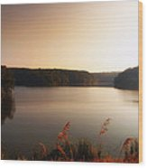 Early Autumn On The Lake Wood Print
