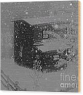 Early Blizzard At The Old Homestead Wood Print