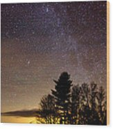 Early Evening Milky Way Wood Print by Steven Valkenberg