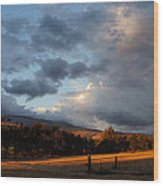 Early Evening Near Ashland Wood Print