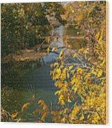 Early Fall On The Navasota Wood Print
