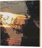 Early Feb 9 2013 Sunset Wood Print