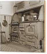 Early Kitchen With A Gas Stove 1920 Wood Print