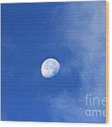 Early Moon Wood Print