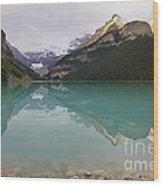 Early Morning At Lake Louise Wood Print