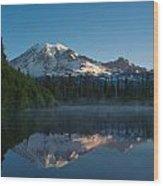 Early Morning At Mount Rainier Wood Print