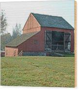 Early Morning Barn Wood Print